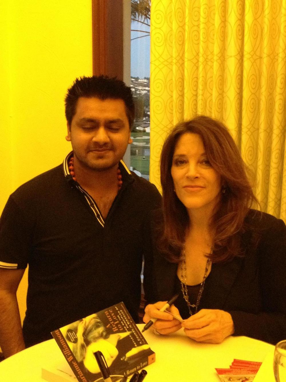 Chandresh with Marianne Williamson