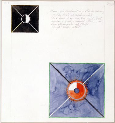 from the  Atom  series by Hilma af Klint, 1917