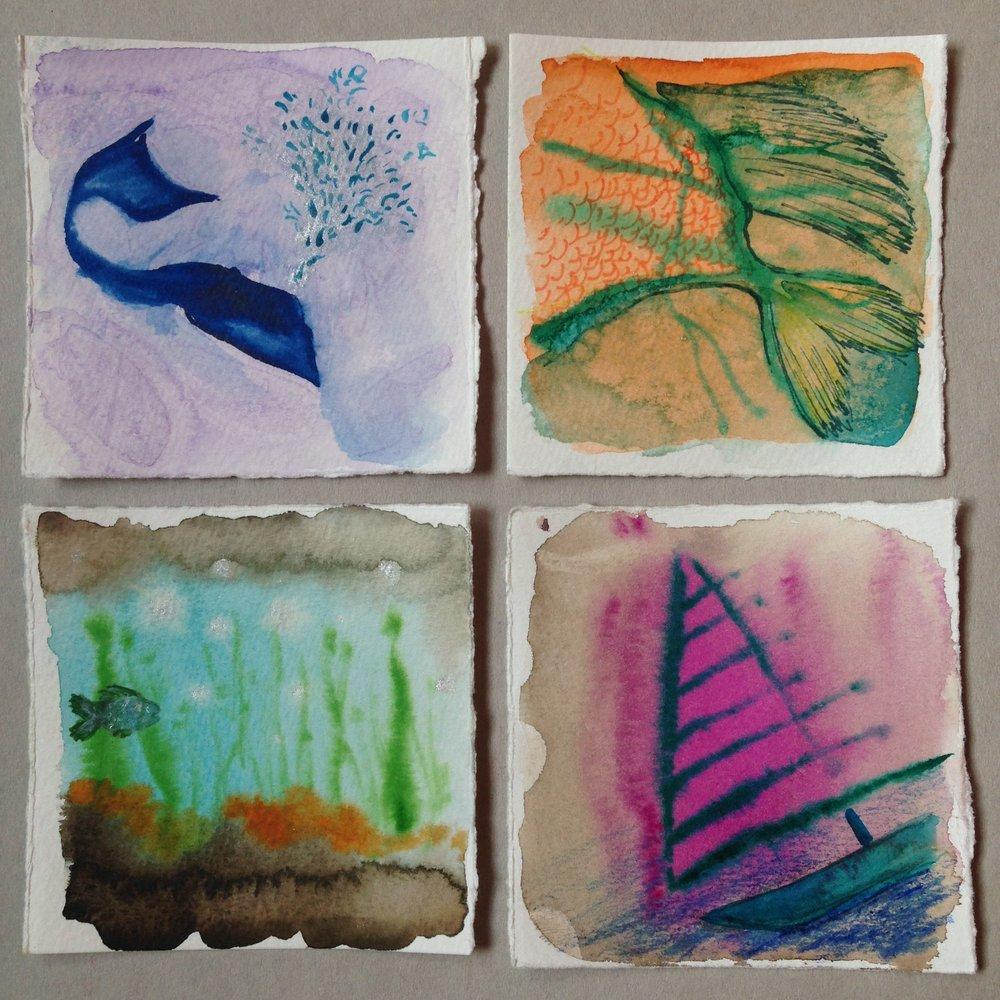 Miniature Watercolors -