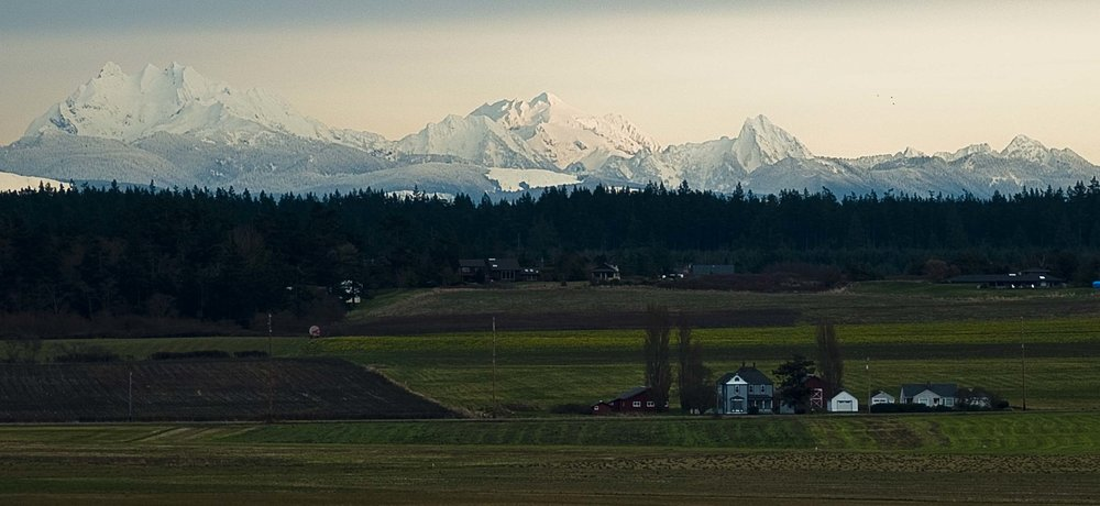 Ebey's Landing & the Cascade Mountains