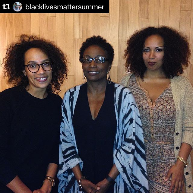 "☀️Follow Black Lives Matter Summer and subscribe to the newsletter in the bio to stay updated on events in NY & DC that stimulate and celebrate Black folks☀️ #Repost @blacklivesmattersummer with @repostapp. ・・・ Michelle Wallace in conversation with Amanda Hunt and Jamilah Lemieux ( @jamilahlemieux ) on the topic of Black feminism and representation of Black women, with specific regard to Lorraine O'Grady's ""Art Is..."" exhibition at the Studio Museum ( @studiomuseum ). Questions like -- why is Sandra Bland one of the first women that the Black community has propelled to the level of mass communal concern? And how does that inform how Black women are regarded in everyday interactions, including and withstanding instances of police brutality? Lorraine O'Grady's ""Art Is..."", which pictures her 1983 performance of framing participants in Harlem's African-American parade with gilded frames, primarily features women. While the exhibition boasts several accomplishments, framing women as active in deciding what constitutes art and how they want to be represented is central in its objective. Black women have been, and continue to be, present.  #BLMS #BlackLivesMatterSummer #sayHERname #blackfeminism"