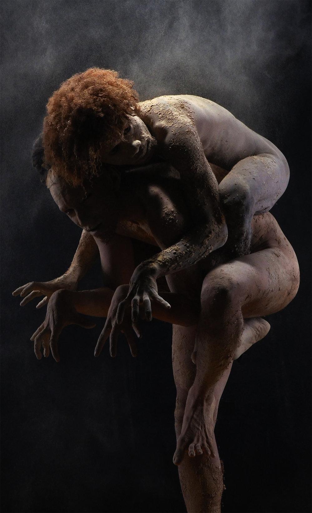 CLAYMOZOME: bodieswithoutboundaries - by Ari Rudenko, models Ari Rudenko and Alfo Smith Kutanggas (West Papua), photography by Gendis Photoworks, Jogjakarta