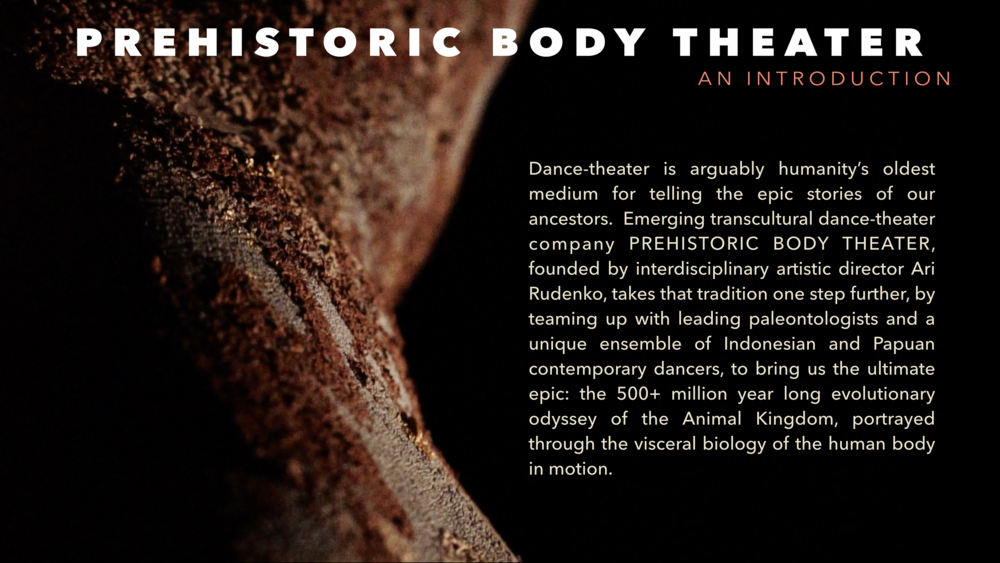 Prehistoric Body Theater, an Introduction