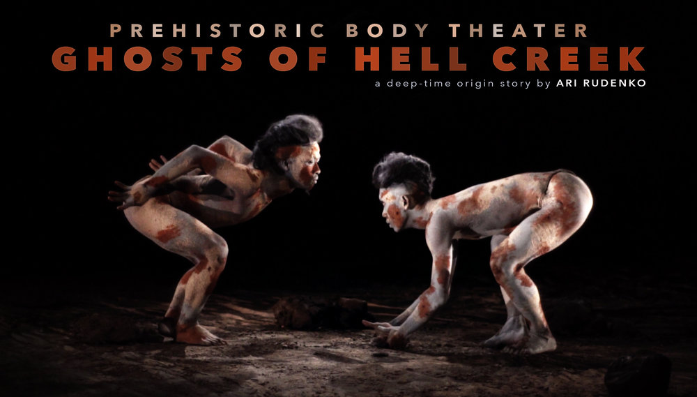 Prehistoric Body Theater GHOSTS of HELL CREEK 2017 Indonesia Film Project, image featuring dancers Sofyan Joyo Utomo and Muhammad Maulana Al-Azhar. Image © Ari Rudenko