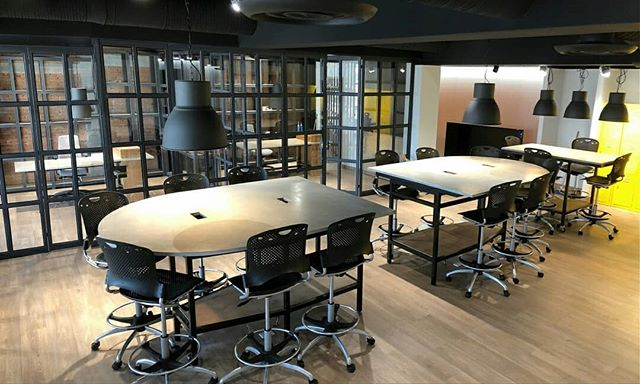Brand new offices designed by @rdegetau with Rokam tables