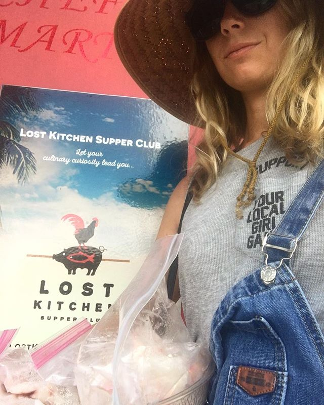 Delivery! @lovinlou bringing fresh fish for the after party special at @lostkitchenkw @culinaryconch. Join the weigh station party from 2-5pm or the after party at 7pm to see who takes home the gold. BYOGlass and help us raise funds for Womankind Inc. by entering the raffle and silent auction 🎉