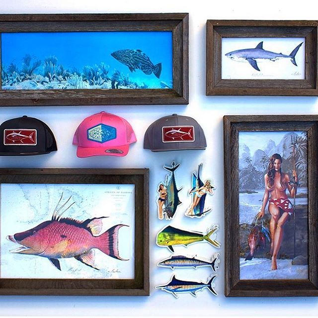 Our buddy @abachar is sending some goodies for the prize table again this year!  We know how lucky we are to have his work at the event. The King of scientific illustrations and pin up girls... check him out! . . . . . . #calilove #fishing #art #fish #artist #twss #fundraiser #community #keywest #spear #spearfishing #dive #diving