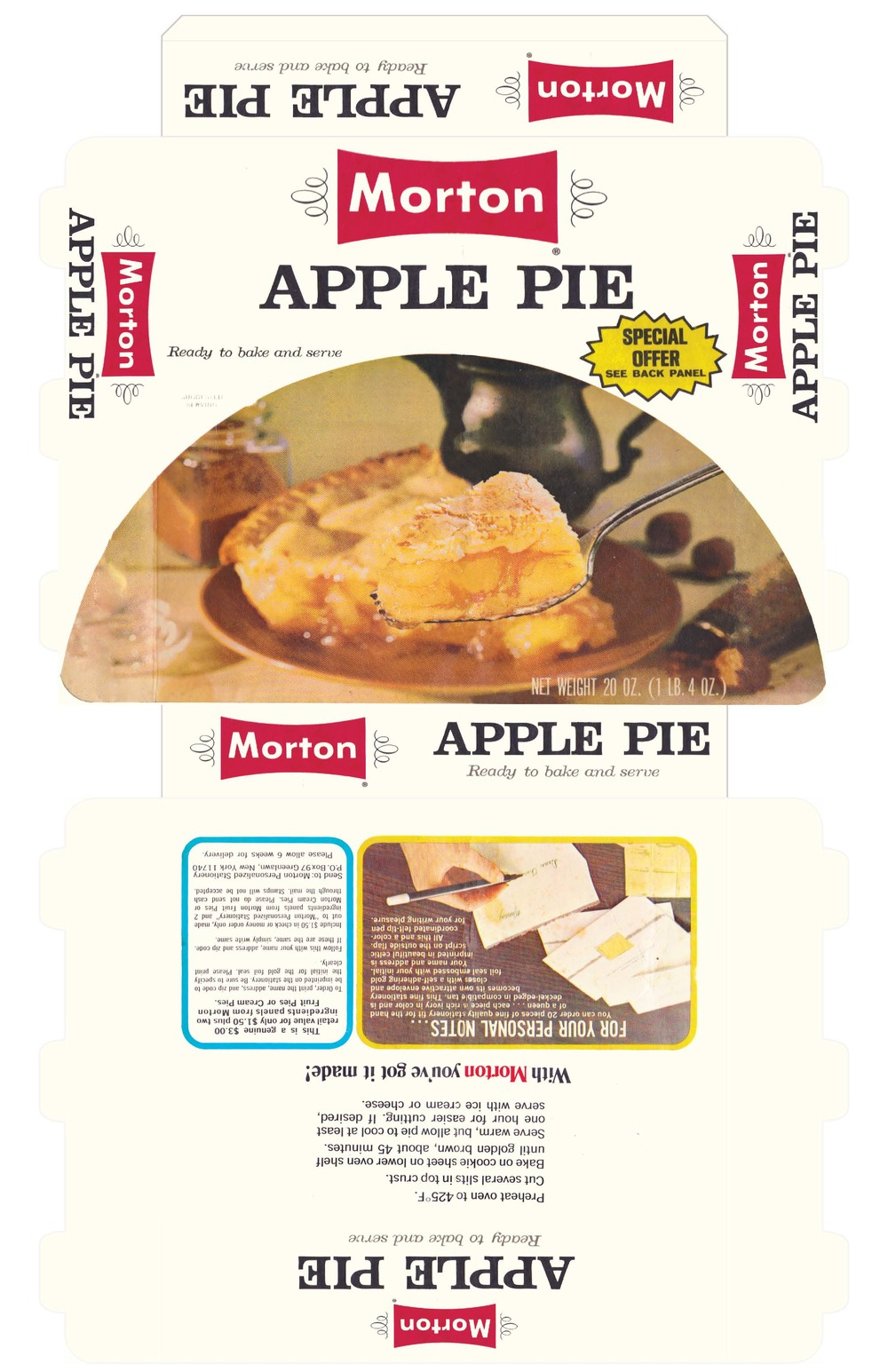 Morton's Apple Pie box - recreation