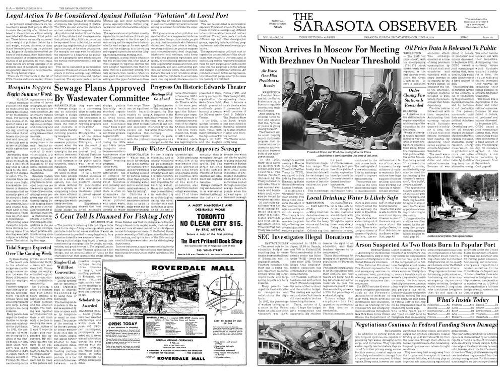 1970s Newspaper