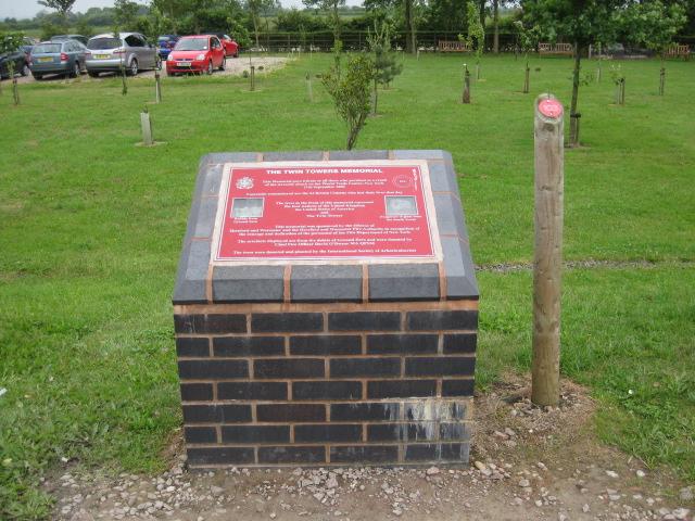Staffordshire Twin Towers Memorial - Alrewas, Staffordshire, England