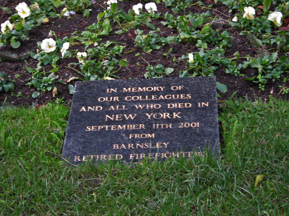 Barnsley 9/11 Memorial Stone - Barnsley, South Yorkshire, England