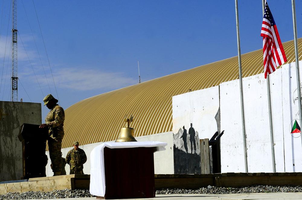 Kabul airport memorial–before unveiling.JPG