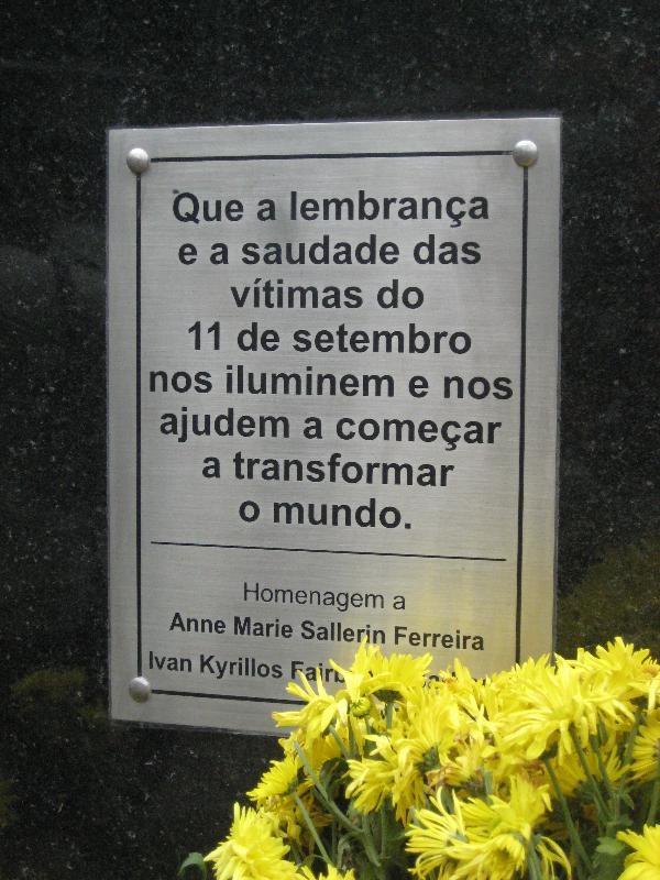 São Paulo 9/11 Plaque - São Paulo, São Paulo, Brazil