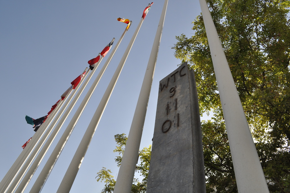 2010 Bagram Airfield 9/11 Memorial Beam - Bagram, Afghanistan