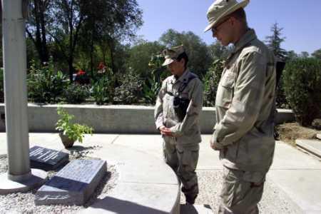2002 U.S. Embassy in Afghanistan 9/11 Memorial Plaque - Kabul, Afghanistan