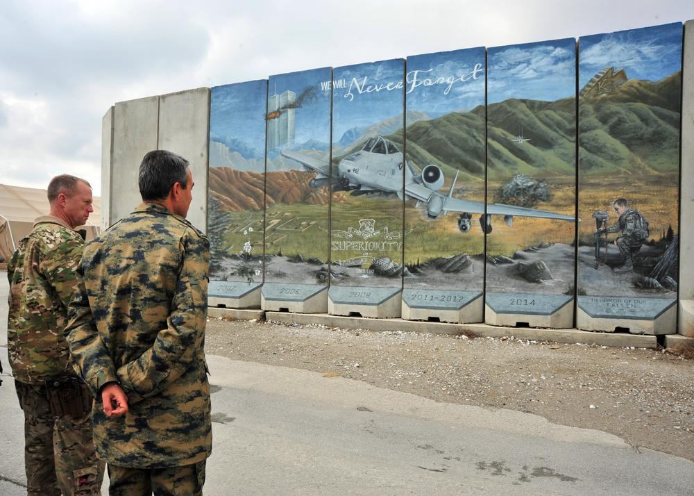 Bagram Airfield Memorial Mural - Bagram, Afghanistan
