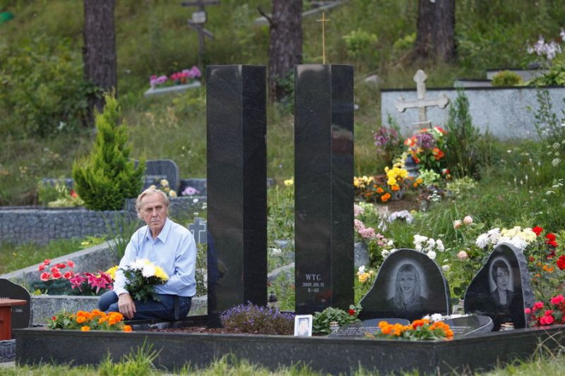 Grave of Yelena Gavriushin- Vilnius, Lithuania