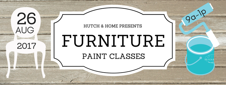 Hutch & Home is proud to announce our next Furniture Paint Class! The class will be a detailed, hands-on painting workshop that covers both chalk paint and milk paint, prepping your piece, various types of paints, layering, distressing, glazing, choices for your sealed finish, decoupaging & more! To wax or not to wax...... that is just one question that we will go over!  Come out and have fun while you create a masterpiece & learn how you can transform the outdated, unloved, or worn out! Learn from our trials & triumphs, with years of painting under our nails! The cost of the class is $95. We supply everything you need except a small piece of furniture, however, you can always purchase something from us! Bring a friend, because we will have light refreshments & a whole lotta fun!!!