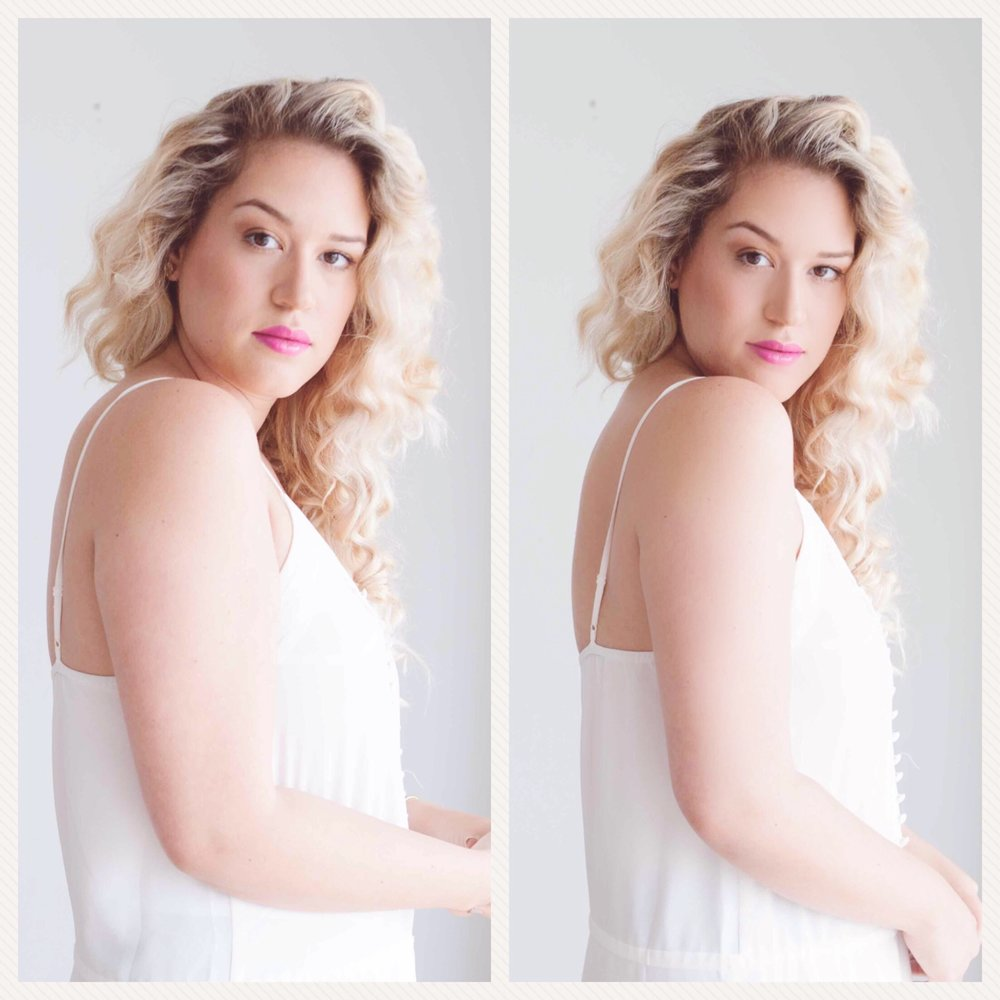 How to look with slimmer arms in photos