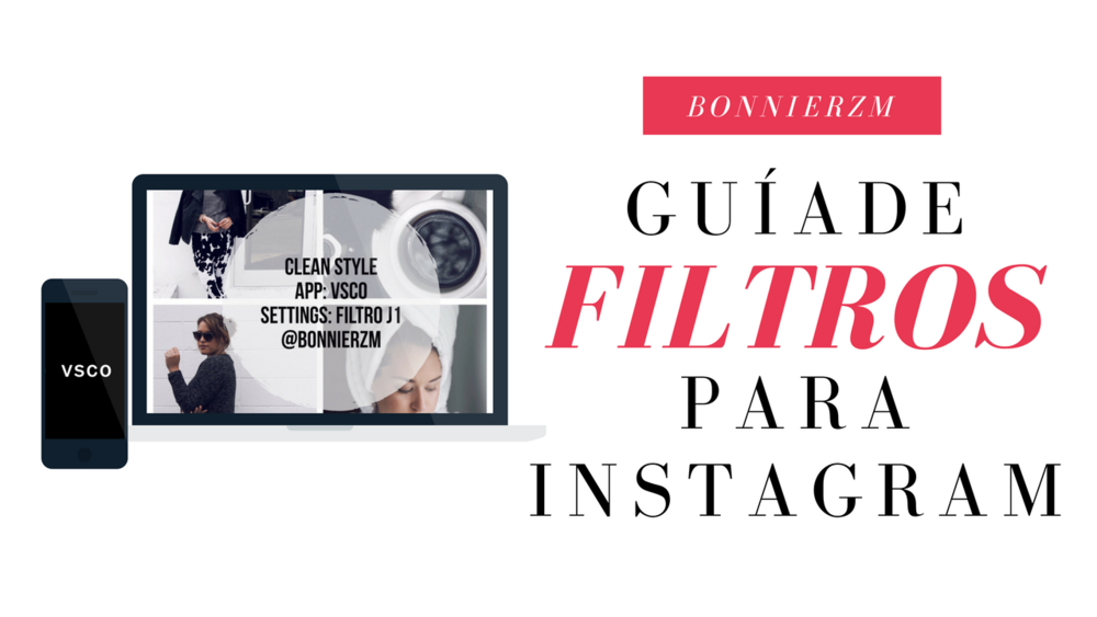 Guía de filtros para instagram