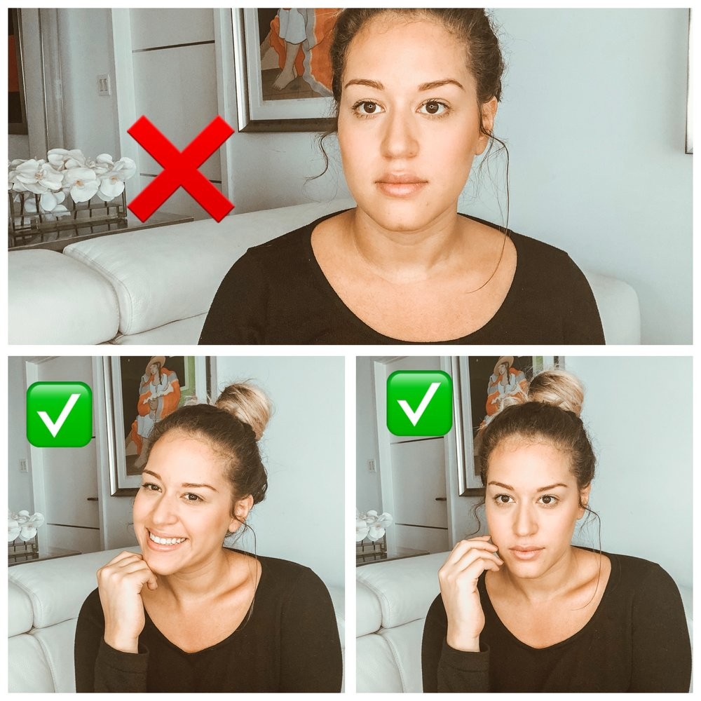 3 facial expressions that are ruining your photos