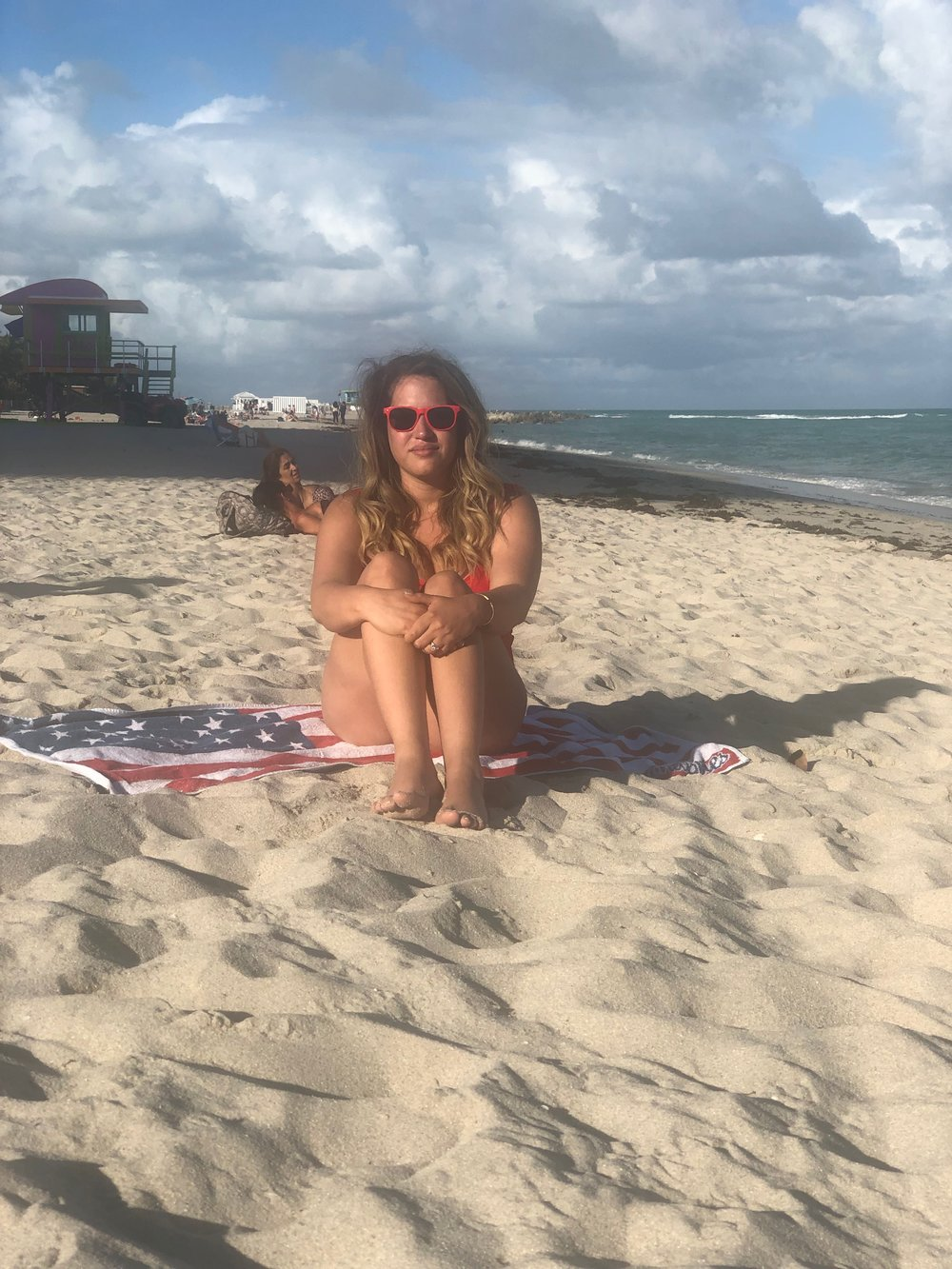 ser fotogénica en la playa
