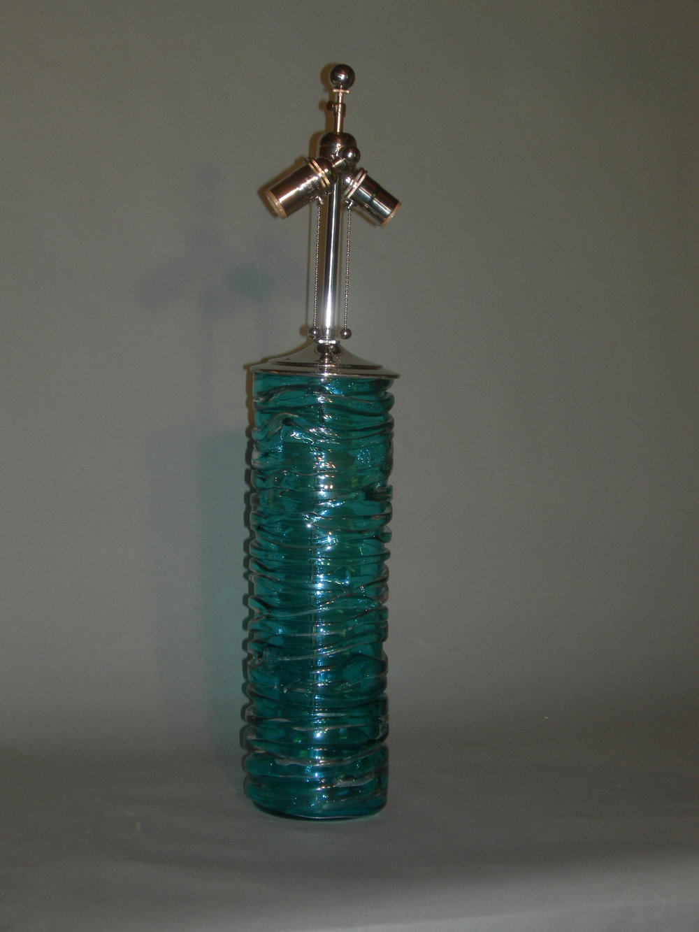 Colin table lamp in kingfisher blue.JPG