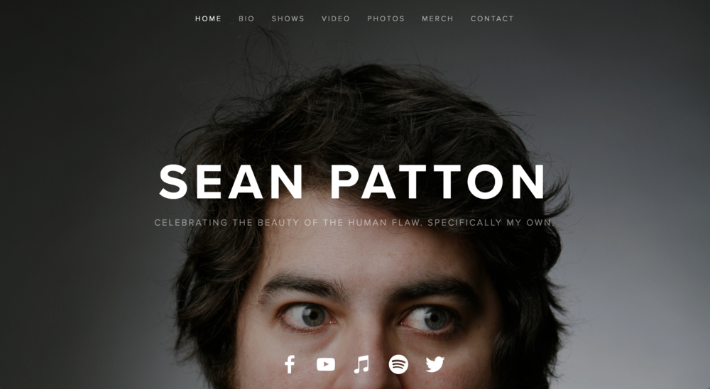 WEB DESIGN -    MESEANPATTON.COM