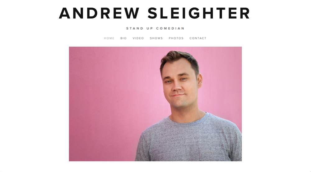 WEB DESIGN -    ANDREWSLEIGHTER.COM
