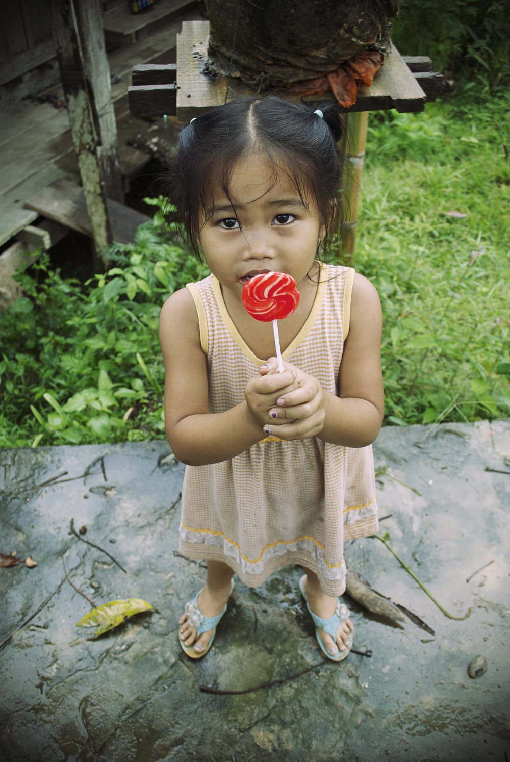 PORTRAITS | Girl with Lollipop, Ban Lad Khammoune, Laos