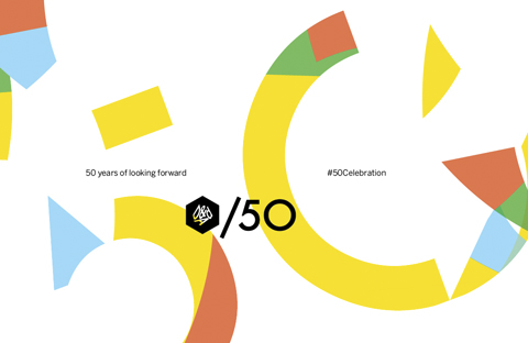 D&AD /50 identity, created by Brody to celebrate the organisation's 50th Anniversary     Source: Research Studios