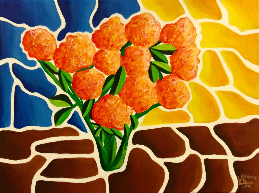 LaFaye-Orange Flowers2016