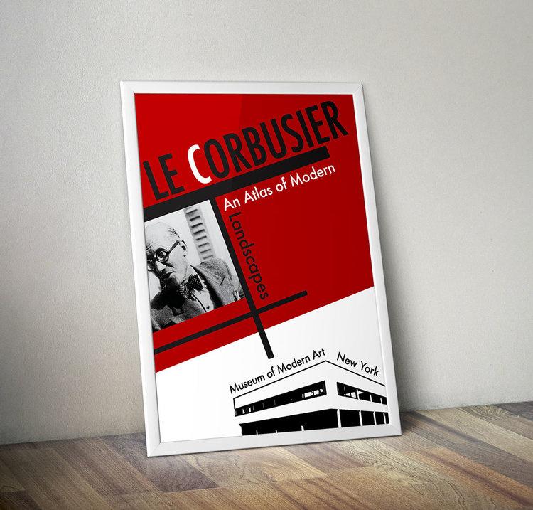 Le Corbusier Moma Brochure Poster Gloria Jakusz