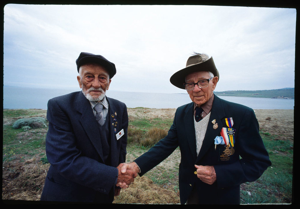 In the 75th Anniversary of Gallipoli Landing Corporal Adil Sahin of Buyuk Anafartalar and West Australian Len Hall of the 10th Light Horse met as friends on the Gallipoli Peninsula, 1915 battlefield they once fought on as enemies. They warmly shook hands and Adil hugged Len as if he had found his long lost friend.