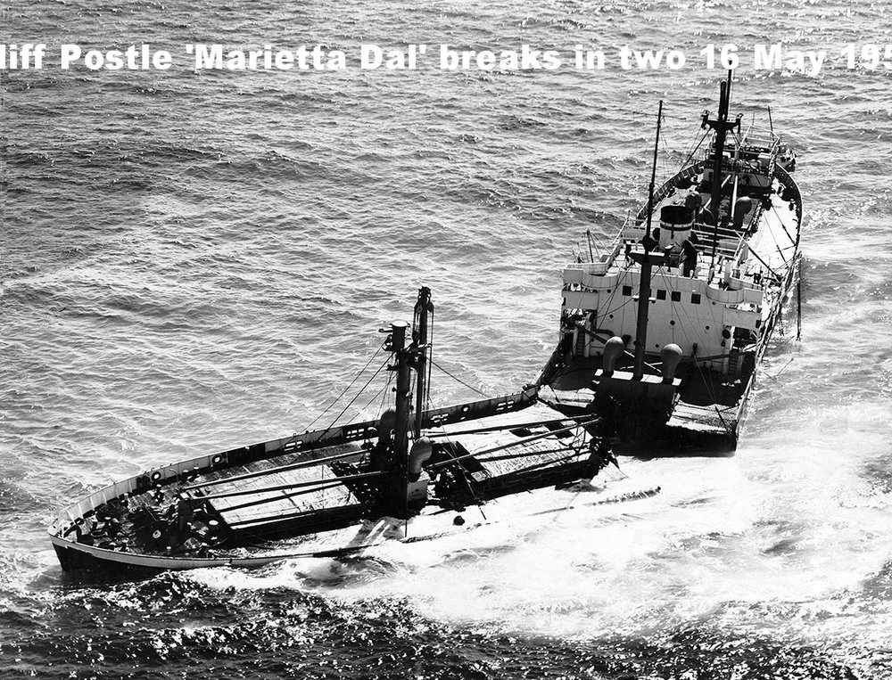 'MARIETTA DAL' BREAKS IN TWO