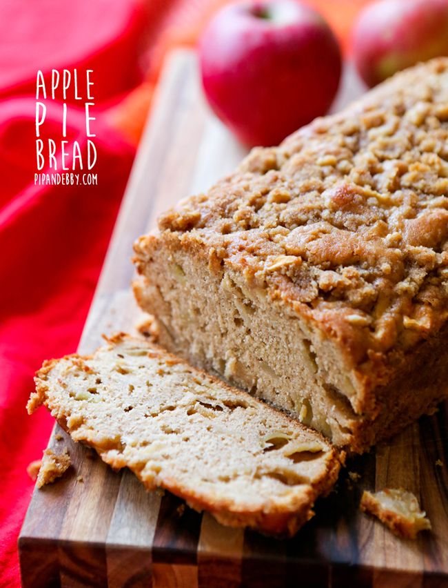 Delicious Apple Pie Bread Recipe Pip And Ebby