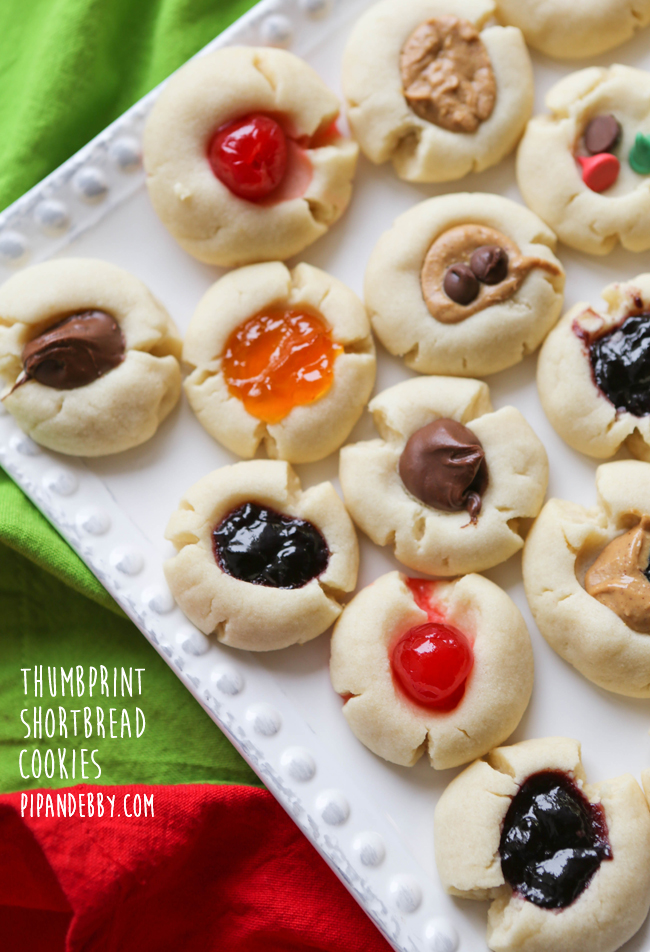 Thumbprint Shortbread Cookies Pip And Ebby Easy Delicious Recipes