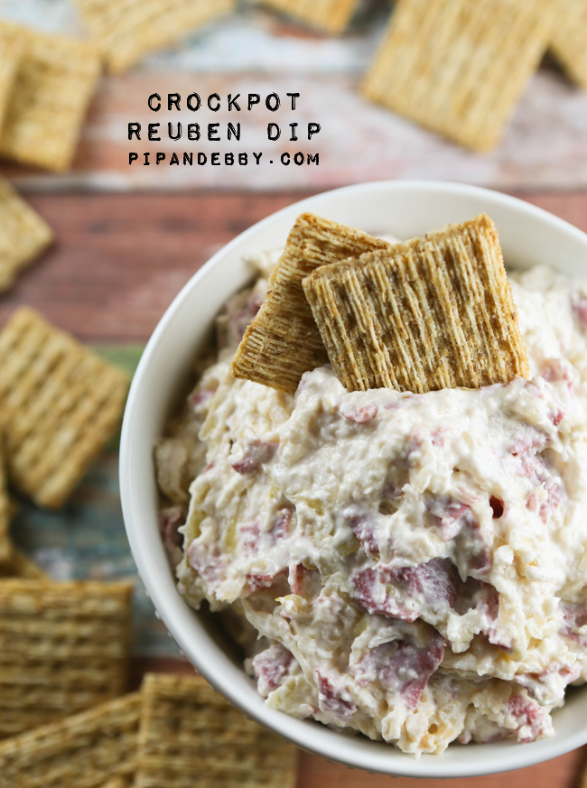 crockpot reuben dip pip and ebby
