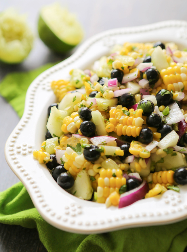 Corn and Blueberry Salad — Pip and Ebby