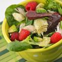 Chicken Raspberry Salad with Lemony Vinaigrette