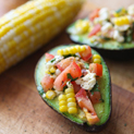 Corn and Tomato Stuffed Avocados