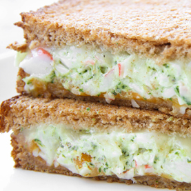 Pesto Crab Grilled Cheese Sandwich