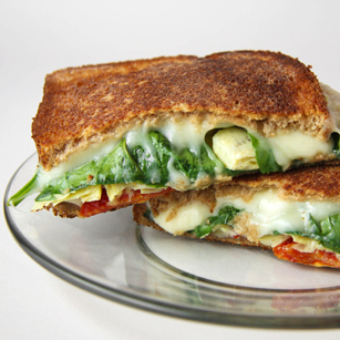 Grilled Artichoke and Sun-Dried Tomato Sandwich