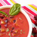Cherry Gazpacho with Basil