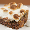 Rolo-Stuffed Marshmallow Brownies