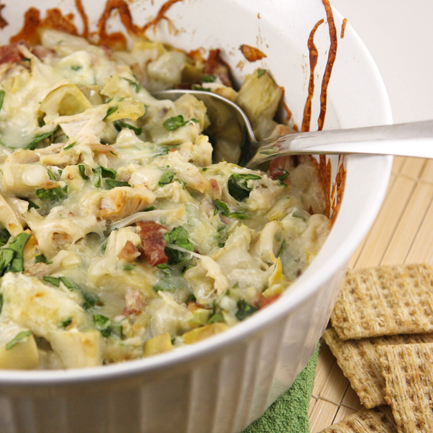 Chicken Bacon Artichoke Dip