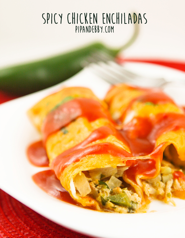 Easy Spicy Chicken Enchiladas Recipe Pip And Ebby
