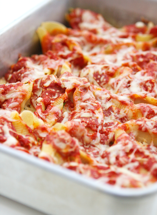 Four Cheese Stuffed Shells — Pip and Ebby