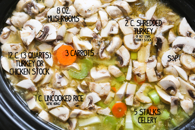 how to make turkey soup from carcass crock pot