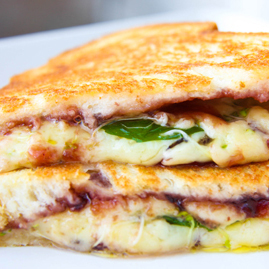 Cheddar and Cherry Grilled Cheese Sandwich